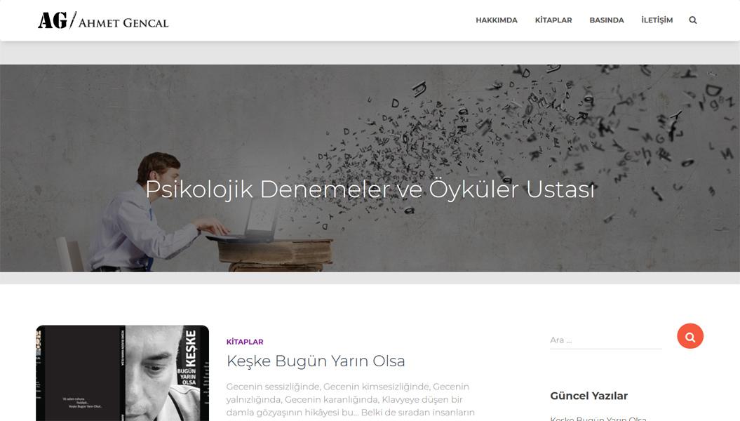 Ahmet Gencal Web Sitesi